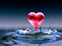acqua pura cuore rosso