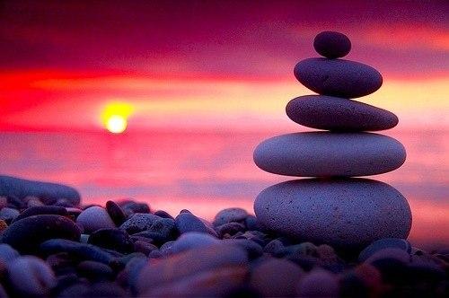pietre tramonto